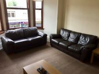 3 seater & 2 seater leather couches -