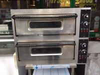 CATERING COMMERCIAL DOUBLE DECK PIZZA OVEN FAST FOOD TAKE AWAY CHICKEN PIZZA SHOP CAFE COMMERCIAL
