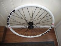 """26"""" MTB MACH1 MX WHITE FRONT WHEEL NEW, DISC ONLY see details"""