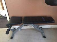 Folding exercise bench