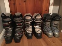 Salomon ski boots, sizes 3, 5 and 7....£20 per pair