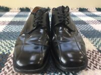 Used Barker Size 11F UK11 Black Lace Up Shoes. Original Sole & Heal Very Little Wear