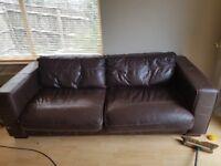 Genuine brown leather Sofas