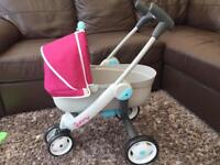 Girls Smoby Toy Dolls Quinny Pushchair