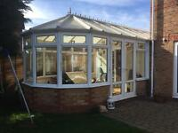 CONSERVATORY SECTIONS DISMANTLED READY TO TAKE NO ROOF IDEAL FOR OUTBUILDINGS ETC