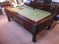 Imperial 7ft x 4ft billiard pool table with solid slate bed