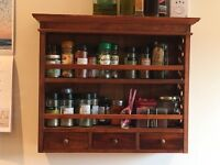 Beautiful Wooden spice rack with draws
