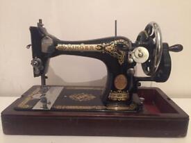 VINTAGE Singer Sewing Machine Model 28K, Dec 1937. Crank Handle. Serial EB606815