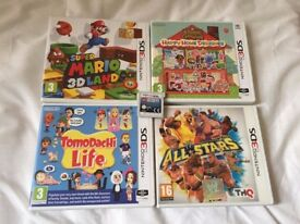 5x 3DS Games - 3D Mario, Tomodachi, Lego Star Wars, WWE, Animal Crossing;