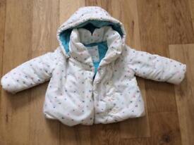 John Lewis girl's winter coat 12-18m