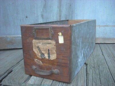 Vintage Industrial Duluth Drawer Parts Cabinet Store Original Store Label