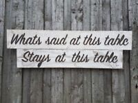dining room sign,reclaimed wood sign, shabby chic sign, dining room,dining table, kitchen sign,sign