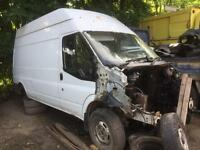 Ford transit 2008 high top rwd breaking
