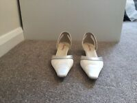 Rainbow wedding shoes, size 7
