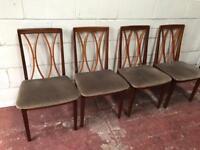 Set of 4 teak Gplan dining chairs