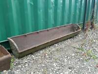 Cast iron troughs