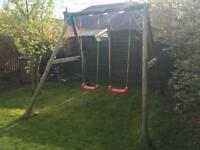 Little Tikes Wooden Double Swing