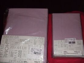 PAIR OF HEATHER DOUBLE FLANNELETTE SHEETS & FOUR PILLOWCASES**LOVELY QUALITY & BRAND NEW**£20 ONO