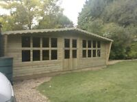 18x8 garden log cabin for sale