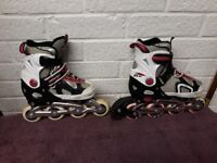 Senhai Size 33 - 36 (UK 1 - 3.5) Inline Skates Roller Blades - Used but in good condition