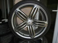 20inch rs6 single alloy wheel x1 with tyre 5x112 a4 a6 audi s line