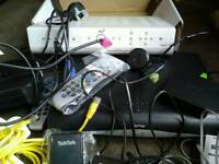 Sky boxes/router/wireless connector/remotes and various adapters and cables
