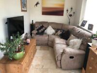 Corner sofa 4 seater incl. 2 recliners