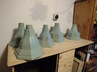 JOB LOT OF CAST IRON DRAIN HOPPERS WALL PLANTERS