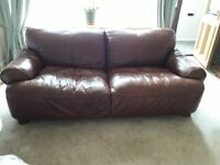 FOR SALE - Leather suite of 2 settees and 1 armchair