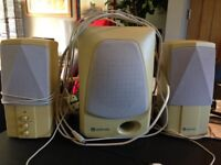Kenyo Speaker System for PC with Subwoofer, Speakers & Cables