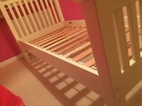 M&S White Wooden Single Bed for Sale