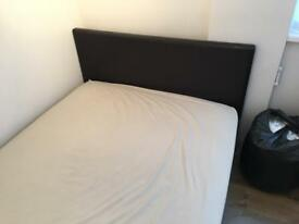 Double storage bed without mattress