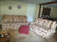 Jayrest 3 & 2 seater sofas + pouffe - great condition