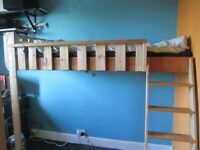 FREE WOODEN LOFT BED IDEAL FOR 8-12YRS OLD. BUYER MUST COLLECT