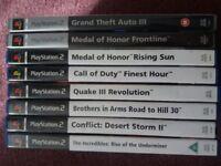 Playstation 2 bundle of 8 games