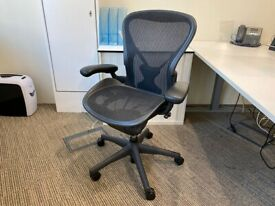 FREE SAME DAY DELIVERY - Herman Miller Aeron Chair Size B Fully Loaded Posture Fit