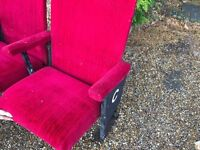 Pair of original cinema seats .....free local delivery
