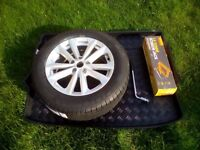 """Nissan Qashqai new 17"""" alloy wheel and tyre with jack, wrench,and fitted boot mat pluss wheel nuts."""