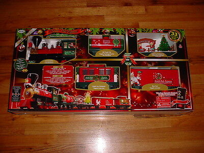 CHRISTMAS EZTEC G SCALE RAILROAD 33 PIECE NEW TRAIN SET REMOTE CONTROL W/LIGHTS
