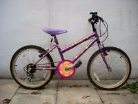 Kids Bike by Apollo, Purple, 20 inch Wheels / Great for Kids 7+ years, JUST SERVICED/ CHEAP PRICE!!!