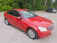 2009 MERCEDES C220 CDI BLUE EFFICIENCY ELEGANCE 4 DOOR SALOON RED 1 OWNER FROM NEW 12 MONTHS M.O.T
