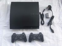 SONY PLAYSTATION 3 160GB BOXED + 2 OFFICIAL CONTROLLERS + 2 GAMES *VVGC*