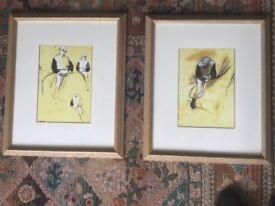 Pair of Degas Prints -The Jockey - Framed under Glass Measurements 21.5in/54cm x 18in/46cm