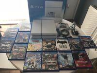 Sony PS4 bundle glacier white 500gb 14 games