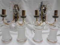 Two Sherry Glass & Strass Wall Lights