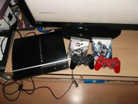 PS3 WITH LOADS OF GAMES X3 PADS LOTS MORE