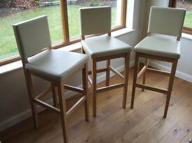 3 kitchen / breakfast bar stools.