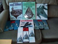 collection of combat books, aircraft and Naval