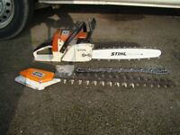 Stihl 026 pro with hedge cutter