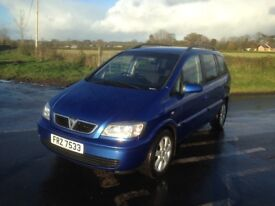 2005 Vauxhall Zafira 2.0 turbodiesel with 7 seats and mot to October 2018